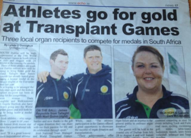 South Dublin Athlete's Go For Gold #wtg2013