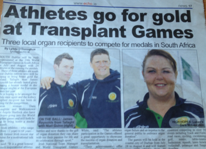 South Dublin Athlete's Go For Gold #wtg2013