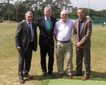 Ray Houghton, John Delaney,(chief executive FAI), Seamus Eager and Jason McAteer