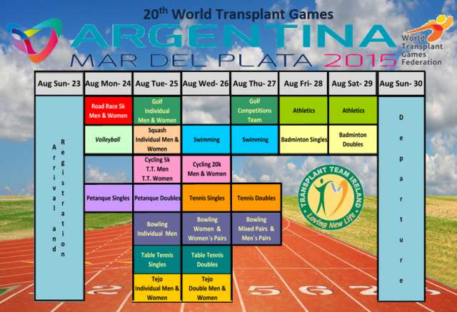 WTG2015 sports Schedule